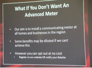 Network Tasman Ltd smart meter presentation What if you don't want an advanced meter