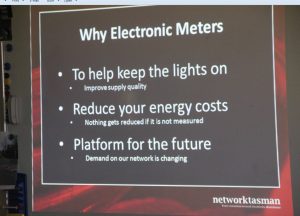 Slide show that accompanied talk by Network Tasman Ltd representative