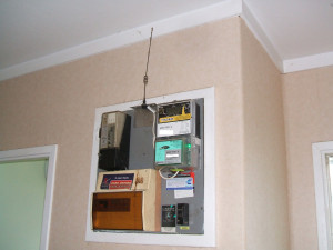 Aerial installed inside family home as part of a GloBug set up